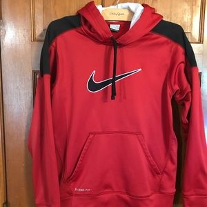 EUC Condition, Red Nike hooded pullover Size S